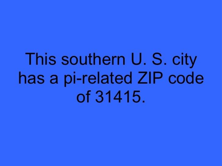 Us City Zip Codes With Pi