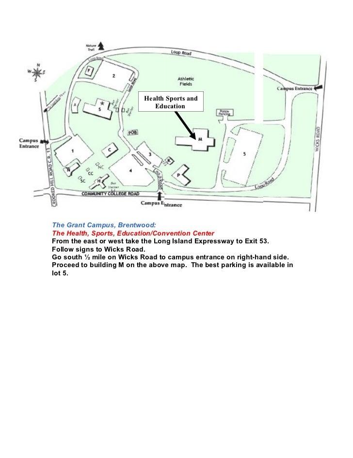 Suffolk Community College Grant Campus Map.Pidaysccc2011