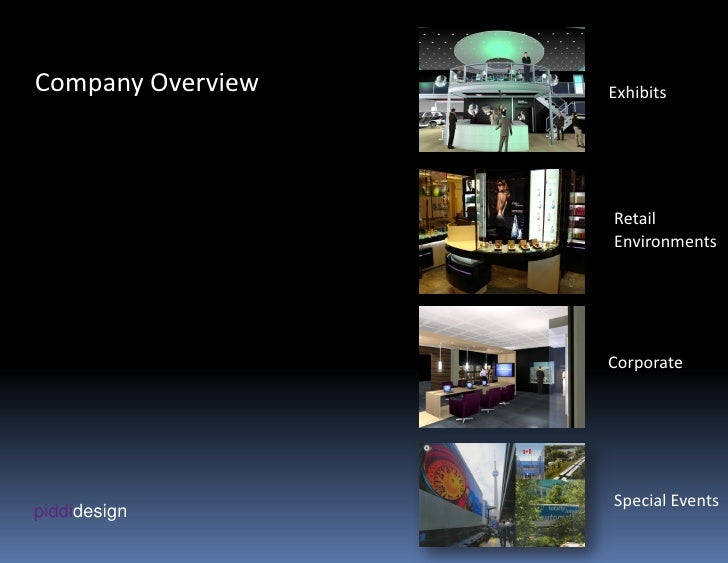 Company Overview   Exhibits                        Retail                    Environments                        Corporate...