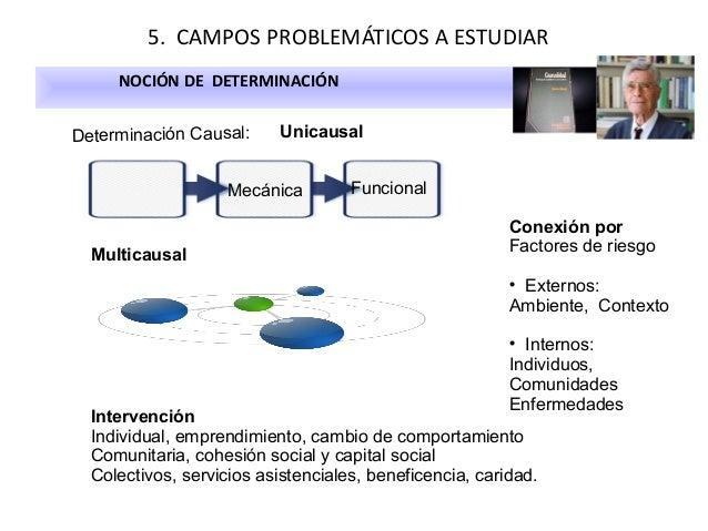 5. CAMPOS PROBLEMÁTICOS A ESTUDIAR NOCIÓN DE DETERMINACIÓN Determinación Causal:  Unicausal  Mecánica  Multicausal  Funcio...