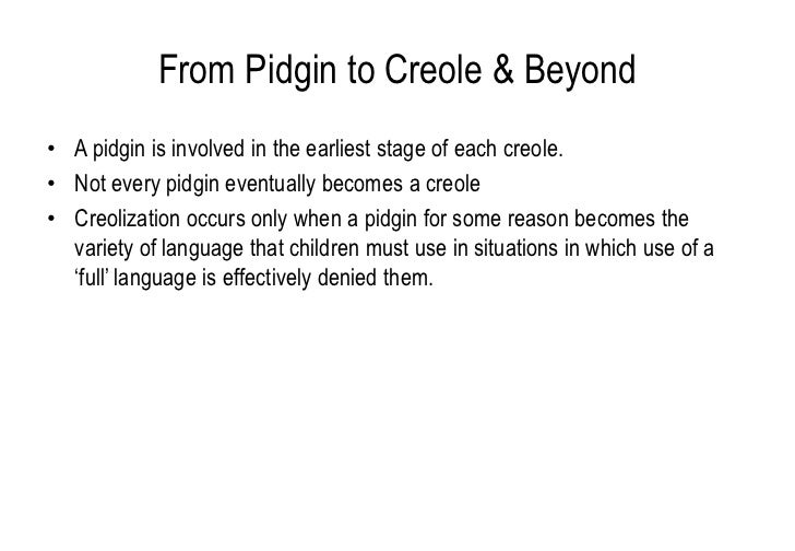 pidgins and creoles This second volume of john holm's pidgins and creoles provides an overview of the socio-historical development of each of some one hundred known pidgins and creoles.