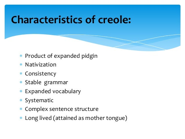 Creole used in a sentence