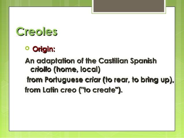 pidgins creoles
