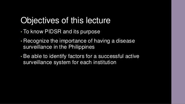 PIDSR Slide 2