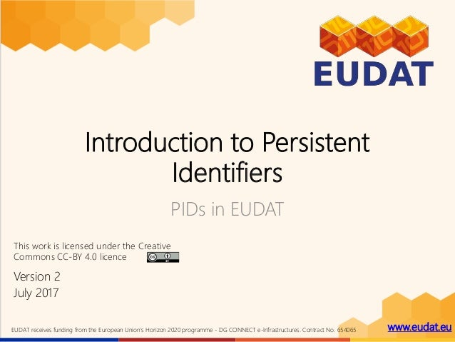 www.eudat.euEUDAT receives funding from the European Union's Horizon 2020 programme - DG CONNECT e-Infrastructures. Contra...