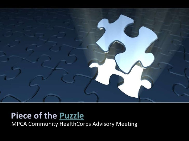 Piece of the PuzzleMPCA Community HealthCorps Advisory Meeting