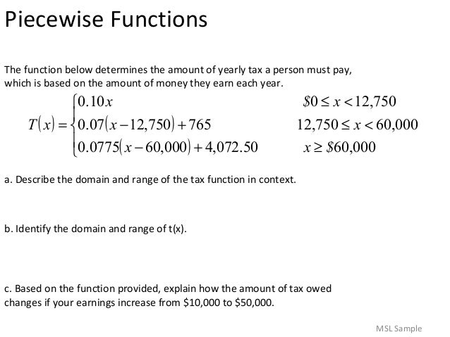 Piecewise Word Problems Worksheet With Answers. Worksheets