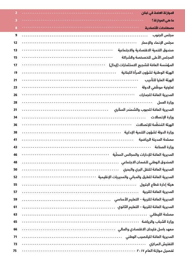 2 لبنان في العامة الموازنة 3 الموازنة؟ هي ما 8 اقتصادية مصطلحات 9 ...