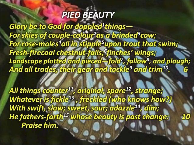 summary of the poem pied beauty