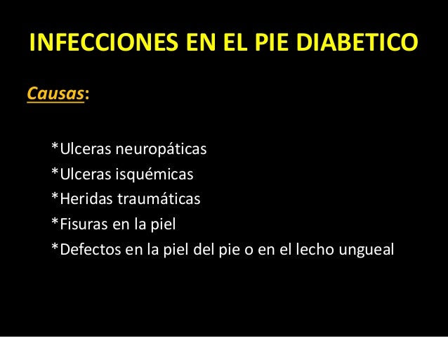 Pie diabetico infectado