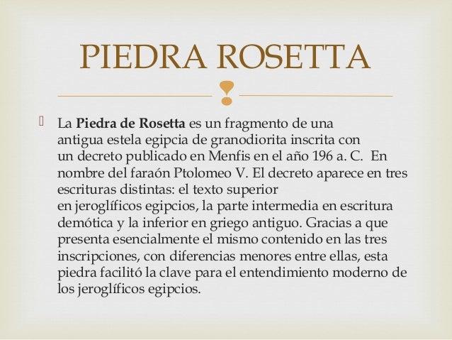 Resultado de imagen para piedra de rosetta