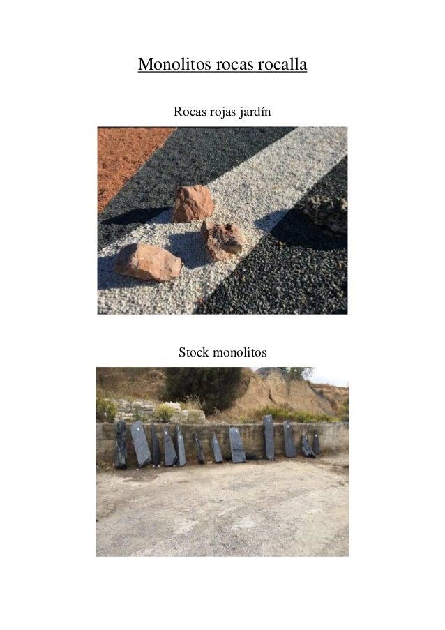 monolitos rocas rocalla rocas rojas jardn stock monolitos