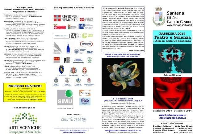 """""""Teatro e Scienza: l'Albero della Conoscenza"""" è un itinerario  teatrale e culturale in luoghi di pregio paesaggistico, sto..."""
