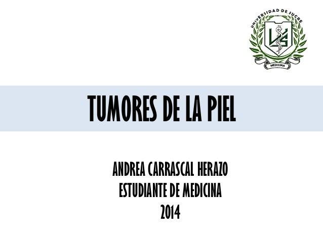 TUMORES DE LA PIEL ANDREA CARRASCAL HERAZO ESTUDIANTE DE MEDICINA 2014