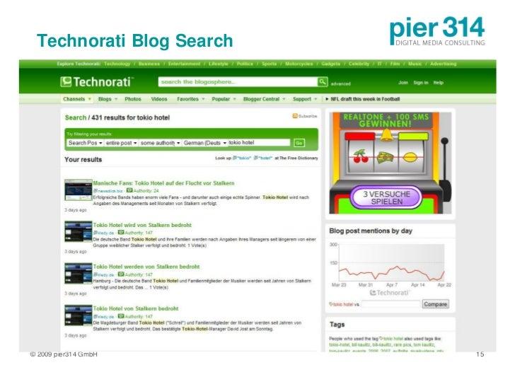 Technorati Blog Search     © 2009 pier314 GmbH       15