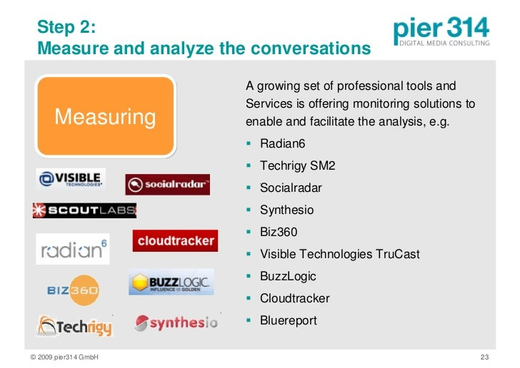 Step 2:  Measure and analyze the conversations                          A growing set of professional tools and           ...