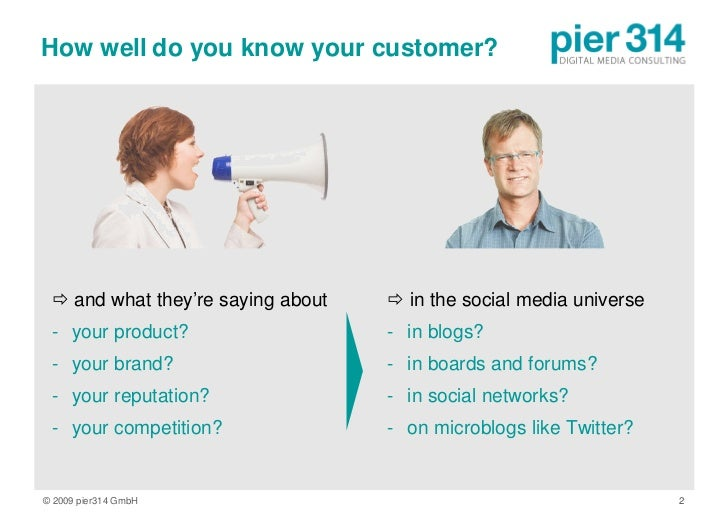 How well do you know your customer?       and what they're saying about    in the social media universe  - your product?...