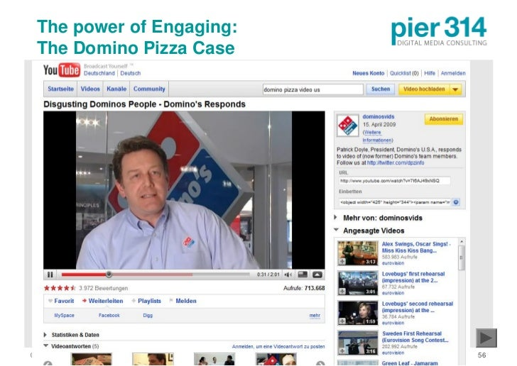 The power of Engaging:  The Domino Pizza Case     © 2009 pier314 GmbH       56