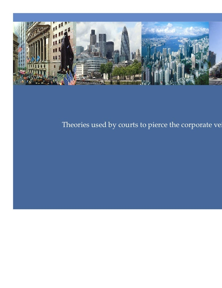 piercing the corporate veil C piercing the corporate veil is an equitable doctrine that is only  reverse veil piercing a concept: the corporate veil is disregarded so its assets can be.