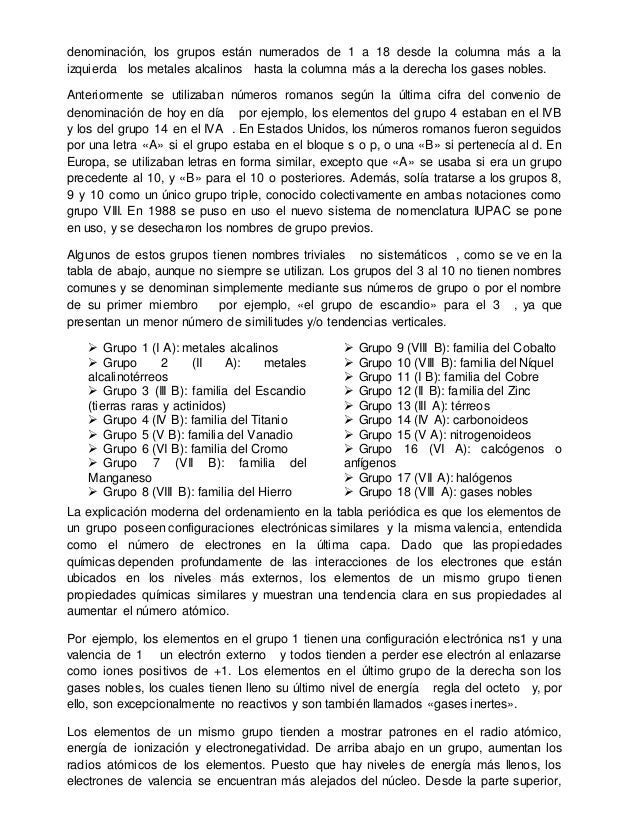 Tabla periodica monografia resumida 10 denominacin urtaz Image collections