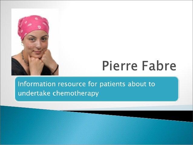 Pierre fabre   patient information programme
