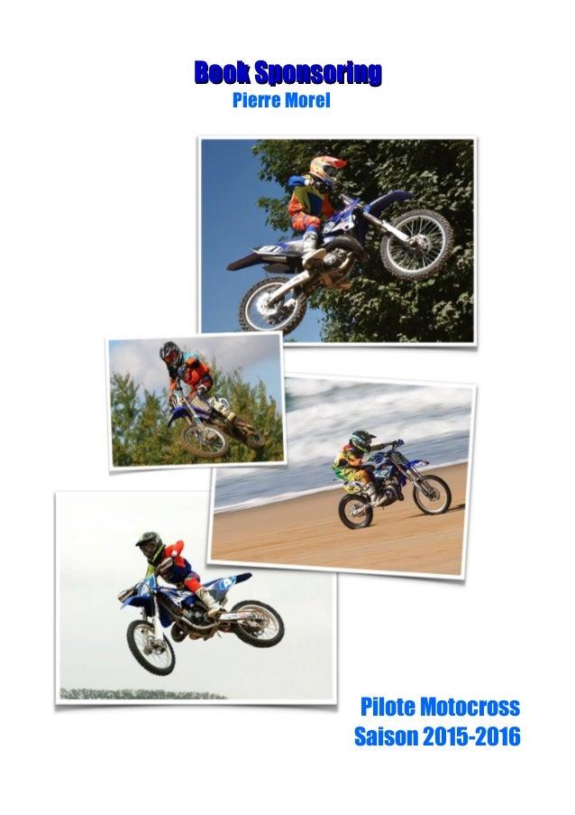 Book SponsoringBook Sponsoring Pierre Morel Pilote Motocross Saison 2015-2016