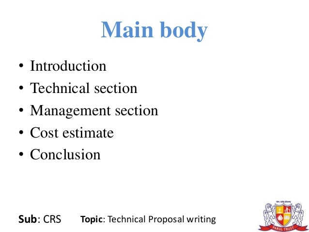 technical writing proposal Technical writing tests writing tests for solicited proposals are those that have been requested in some way or other by a potential customer, for.