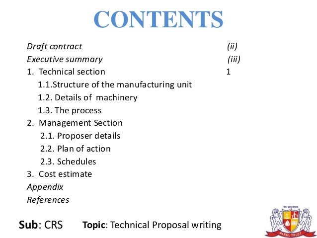 writing a technical proposal