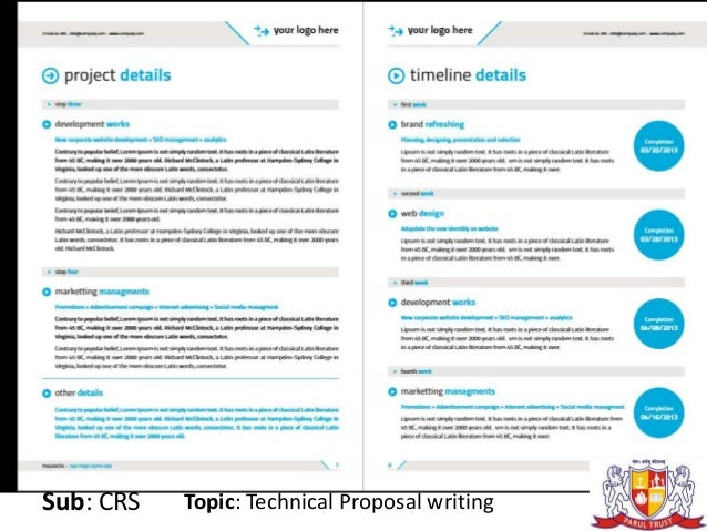 Technical proposal writing