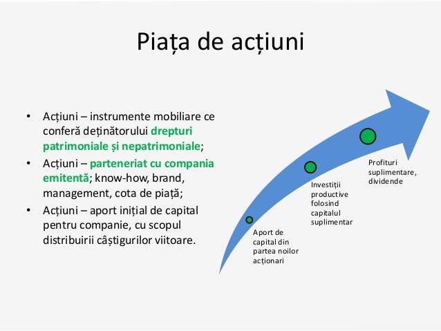 Piața de acțiuni • Acțiuni – instrumente mobiliare ce conferă deținătorului drepturi patrimoniale și nepatrimoniale; • Acț...