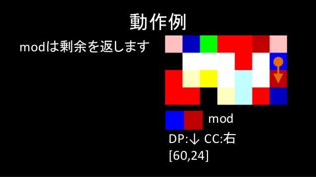 notは(x==0?1:0) みたいなものです 動作例 DP:← CC:左 [60,24,0] not