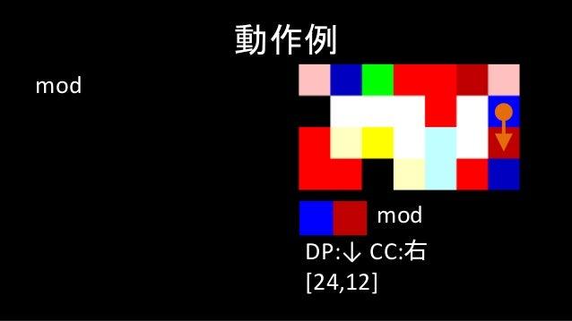 not 動作例 DP:← CC:左 [24,12,0] not