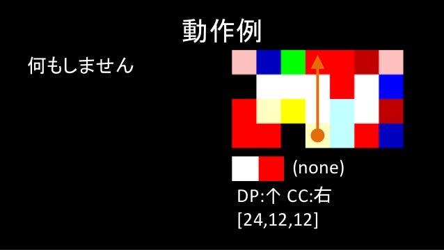 push 1 動作例 DP:→ CC:左 [24,12,12,3,1] push