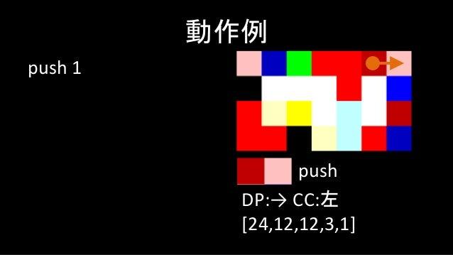 mod 動作例 DP:↓ CC:右 [12,0] mod