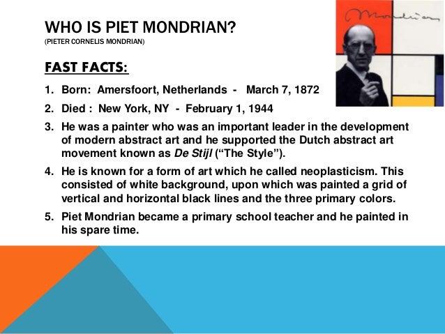 Kid S Art Salon Piet Mondrian Quarterly Art Program