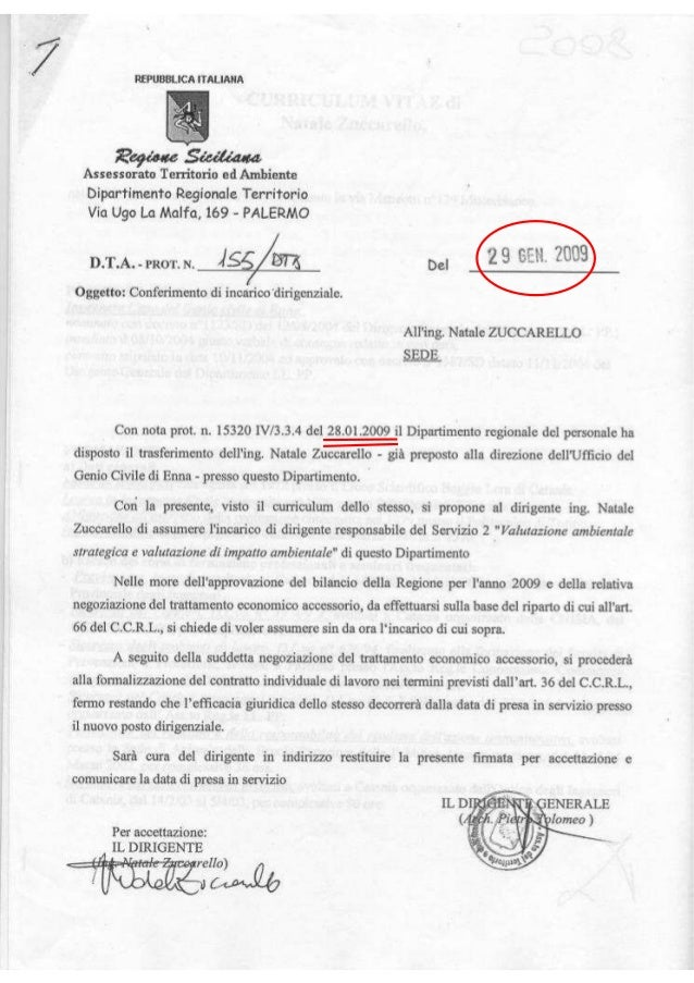 Pietro tolomeo dirigente gen 1 decreto 155  29 genn 2009 contratto  ing  zuccarello nomina  dirigente resp  2 via vas  a.i...