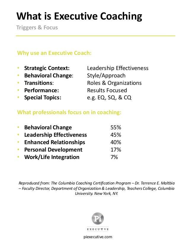 Pi Executive Coaching Brochure