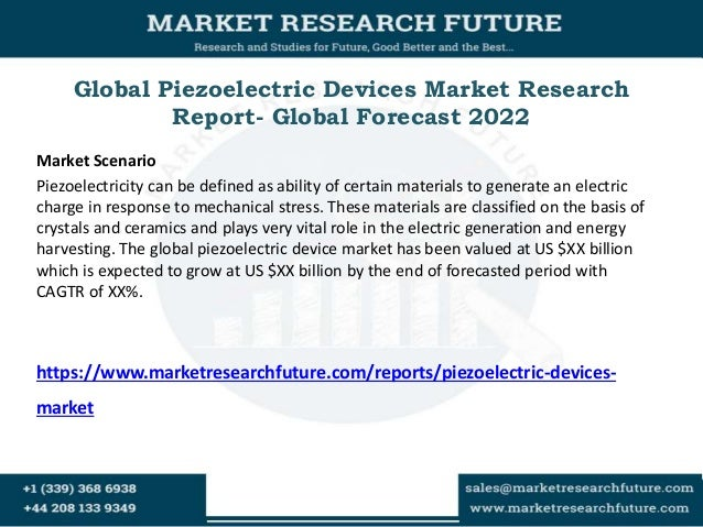 Global Piezoelectric Devices Market Research Report- Global Forecast 2022 Market Scenario Piezoelectricity can be defined ...
