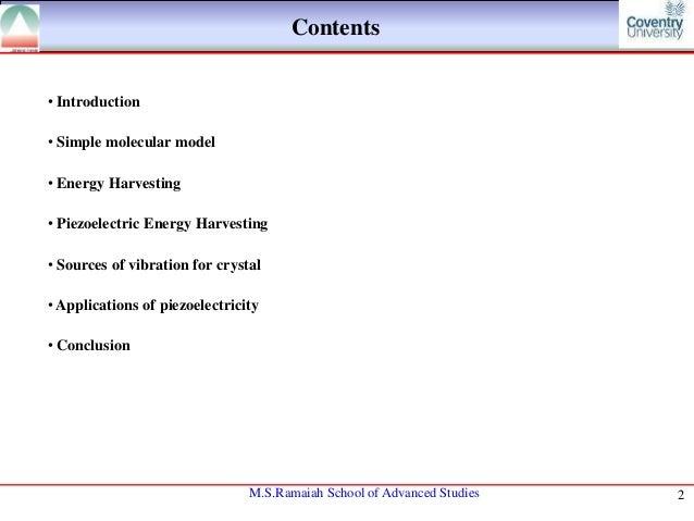 Piezoelectric electric based energy harvesting Slide 2