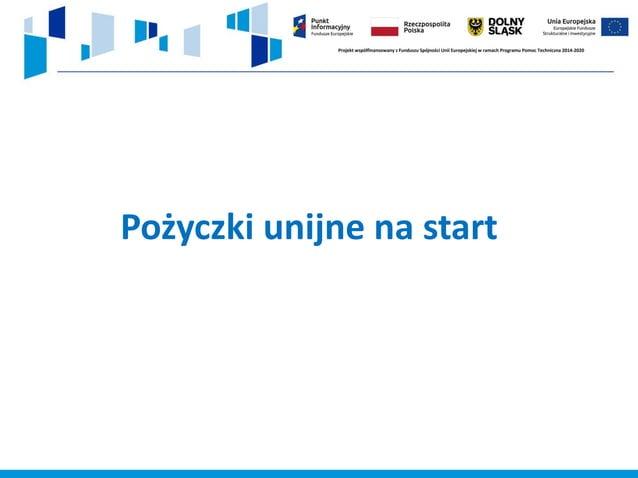 Instrument Finansowy Mikropożyczka na rozpoczęcie działalności gospodarczej finansowany jest ze środków w ramach Działania...