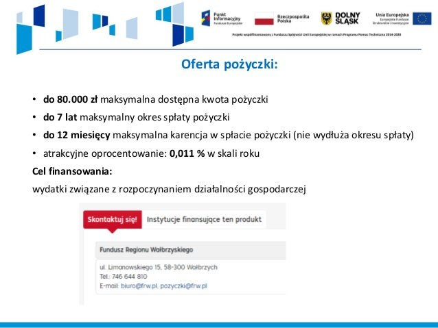 Program Pierwszy Biznes – Wsparcie w Starcie Rządowy program wdrożony na zlecenie Ministerstwa Rodziny, Pracy i Polityki S...