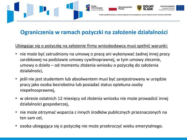 https://frw.pl/pozyczka-na-pierwszy-biznes/ Fundusz Regionu Wałbrzyskiego ul. Limanowskiego 15 58-300 Wałbrzych tel.: (074...