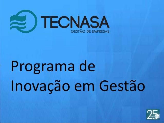 Programa de Inovação em Gestão