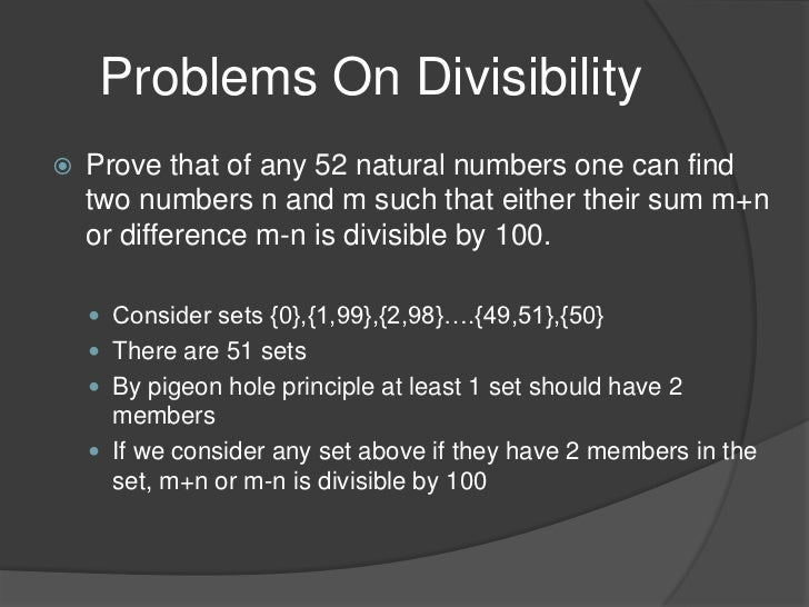 the pigeonhole principle forms Pigeonhole principle to the study of efficient provability of major open problems in computational complexity, as well as some of its generaliza-tions in the form of general matching principles 1 introduction propositional proof complexity is an area of study that has seen a rapid devel-opment over a couple of last decades.