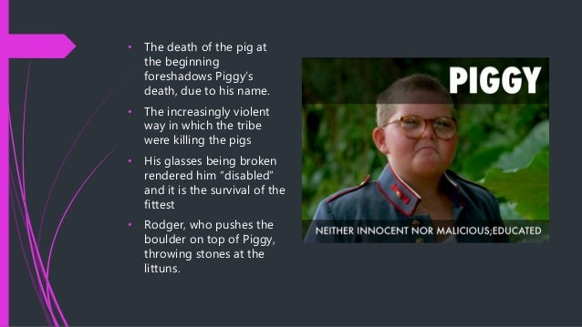 an analysis of the character of piggy Lord of the flies - piggy quotes and analysis hi, i'm looking for quotes that best show piggy's character traits in lord of the flies a short analysis of the quotes.