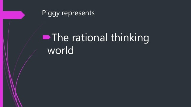 an analysis of the character of piggy in william goldings novel lord of the flies Lord of the flies character analysis ralph/jack/simon/piggy  piggy is also the fire-starter in the novel since  monkeynotes-lord of the flies by william.