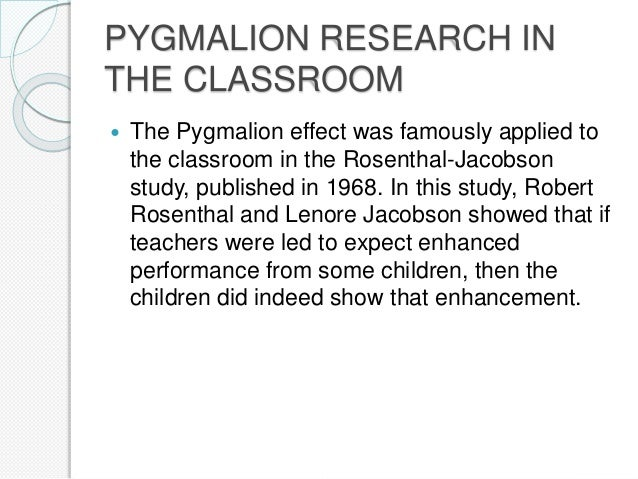 "A Case Study of the ""Pygmalion Effect"": Teacher ..."