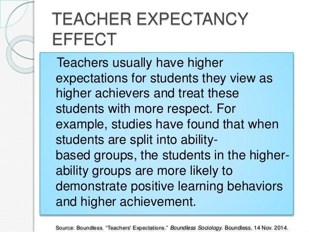 teacher expectancy effect