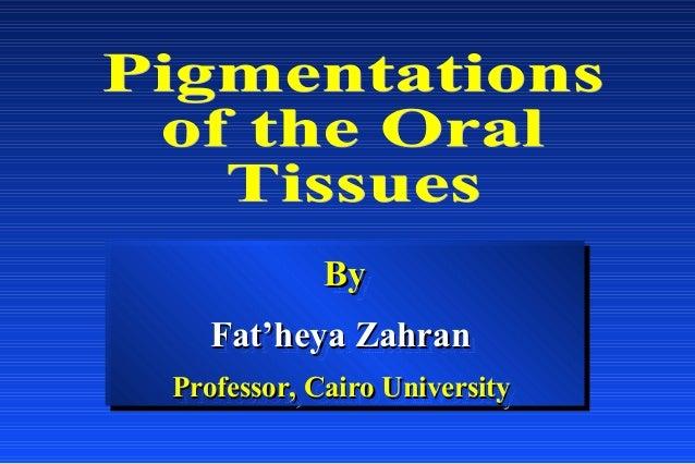 By By Fat'heya Zahran Fat'heya Zahran Professor, Cairo University Professor, Cairo University