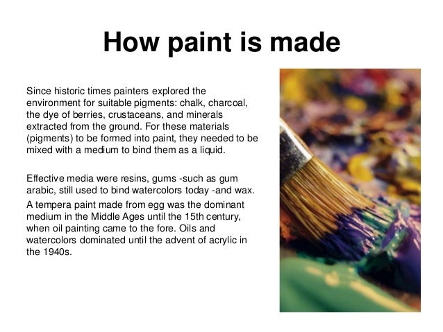 pigments and painting